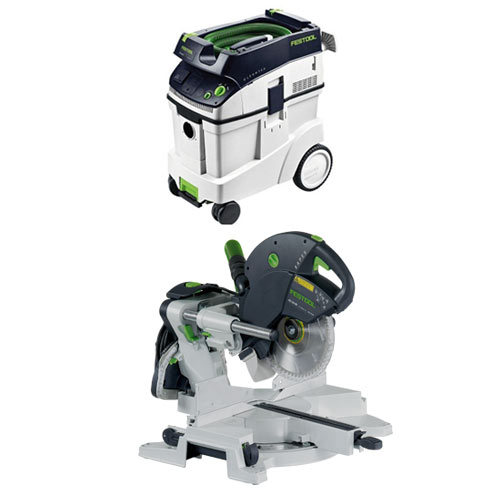 FESTOOL KAPEX KS 120 EB MITER SAW & CT 48 E EXTRACTOR PACKAGE