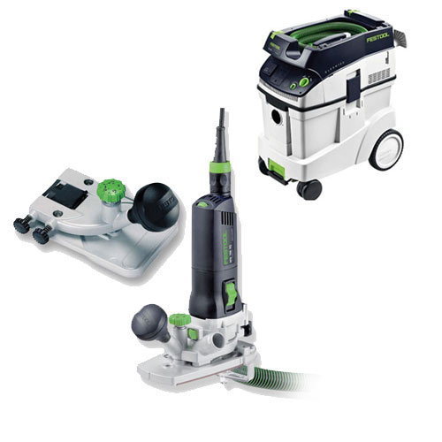 FESTOOL MFK 700 EQ TRIM ROUTER SET & CT 48 E EXTRACTOR PACKAGE