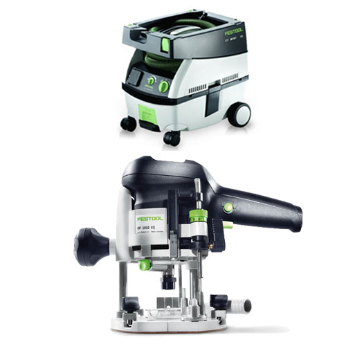 FESTOOL OF 1010 EQ ROUTER Imperial & CT MINI EXTRACTOR PACKAGE