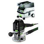 FESTOOL OF 1400 EQ ROUTER IMPERIAL & CT MINI EXTRACTOR PACKAGE