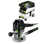 FESTOOL OF 1400 EQ ROUTER IMPERIAL & CT MIDI EXTRACTOR PACKAGE