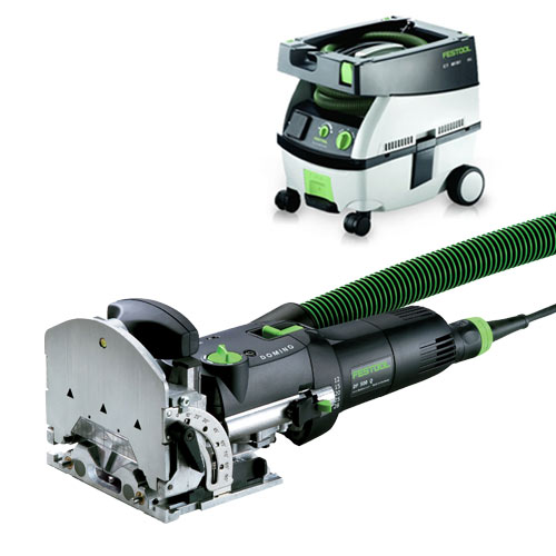 FESTOOL DF 500 Q DOMINO JOINER & CT MINI EXTRACTOR PACKAGE