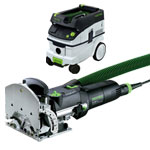 FESTOOL DF 500 Q DOMINO JOINER & CT 26 E EXTRACTOR PACKAGE