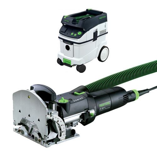 FESTOOL DF 500 Q DOMINO JOINER & CT 36 E EXTRACTOR PACKAGE
