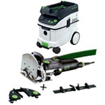 FESTOOL DF 500 Q DOMINO JOINER SET & CT 36 E EXTRACTOR PACKAGE
