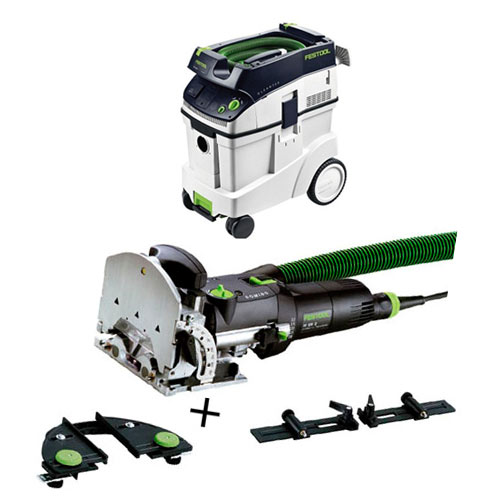 FESTOOL DF 500 Q DOMINO JOINER SET & CT 48 E EXTRACTOR PACKAGE
