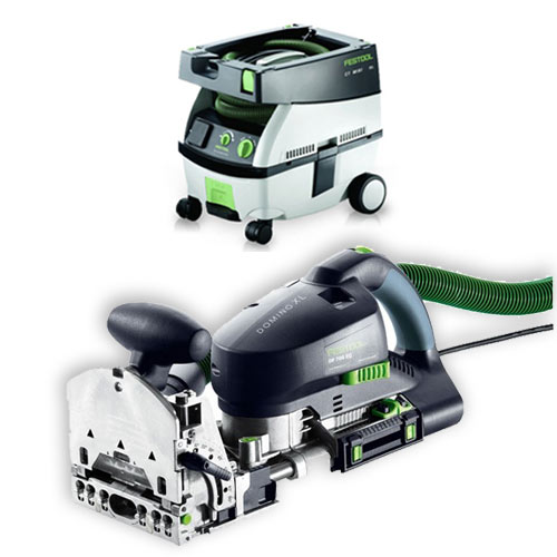 FESTOOL DF 700 EQ DOMINO XL JOINER & CT MINI EXTRACTOR PACKAGE