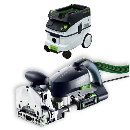 FESTOOL DF 700 EQ DOMINO XL JOINER & CT 26 E EXTRACTOR PACKAGE