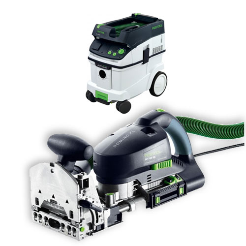 FESTOOL DF 700 EQ DOMINO XL JOINER & CT 36 E EXTRACTOR PACKAGE