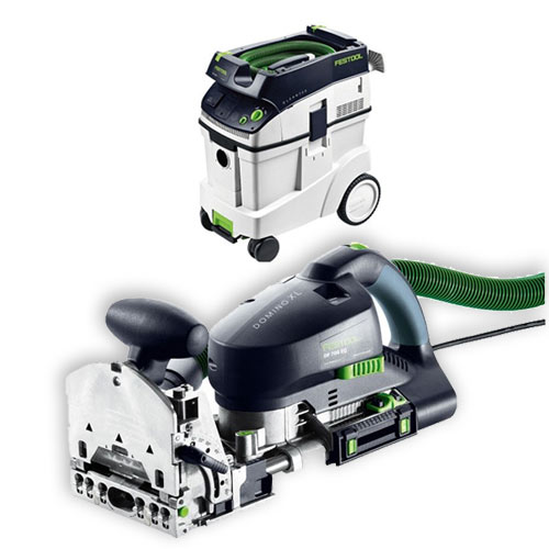 FESTOOL DF 700 EQ DOMINO XL JOINER & CT 48 E EXTRACTOR PACKAGE