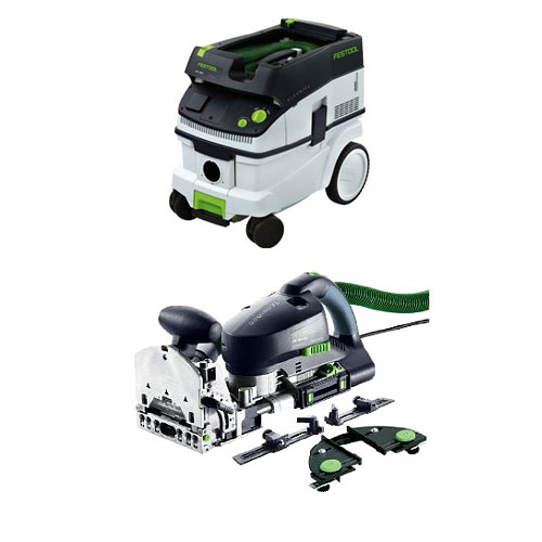 FESTOOL DF 700 EQ DOMINO XL JOINER SET & CT 26 E EXTRACTOR PACKAGE