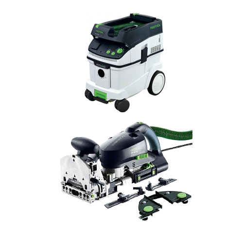 FESTOOL DF 700 EQ DOMINO XL JOINER SET & CT 36 E EXTRACTOR PACKAGE