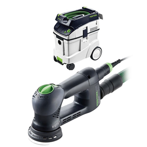 FESTOOL ROTEX RO 90 FEQ MULTI-MODE SANDER & CT 48 E EXTRACTOR PACKAGE