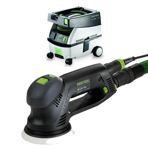 FESTOOL ROTEX RO 125 FEQ SANDER & CT MINI EXTRACTOR PACKAGE