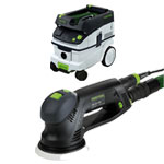FESTOOL ROTEX RO 125 FEQ SANDER & CT 26 E EXTRACTOR PACKAGE