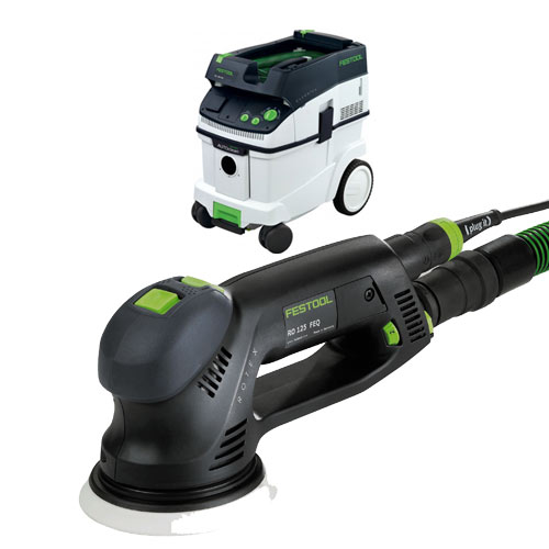 FESTOOL ROTEX RO 125 FEQ SANDER & CT 36 E EXTRACTOR PACKAGE