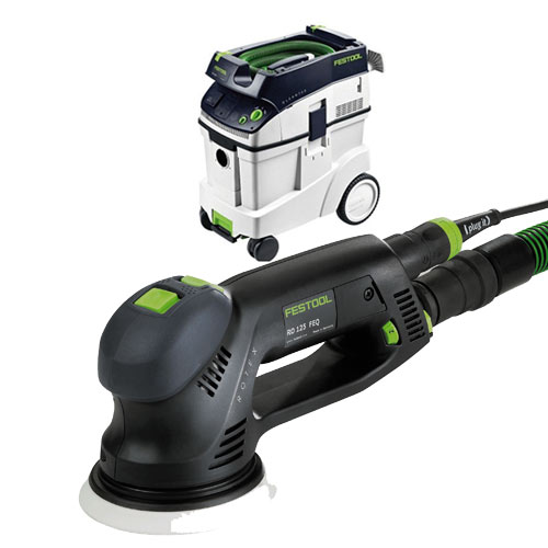 FESTOOL ROTEX RO 125 FEQ SANDER & CT 48 E EXTRACTOR PACKAGE