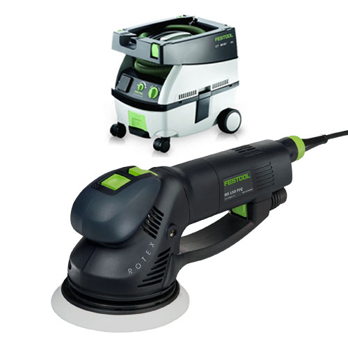 FESTOOL ROTEX RO 150 FEQ SANDER & CT MINI EXTRACTOR PACKAGE