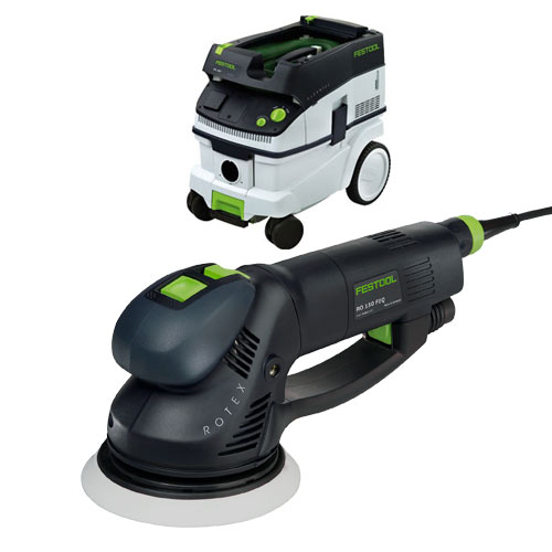 FESTOOL ROTEX RO 150 FEQ SANDER & CT 26 E EXTRACTOR PACKAGE