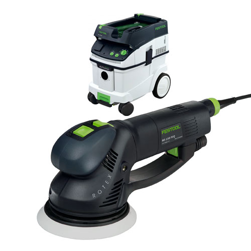 FESTOOL ROTEX RO 150 FEQ SANDER & CT 36 E EXTRACTOR PACKAGE