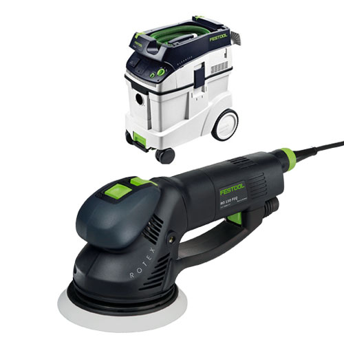 FESTOOL ROTEX RO 150 FEQ SANDER & CT 48 E EXTRACTOR PACKAGE