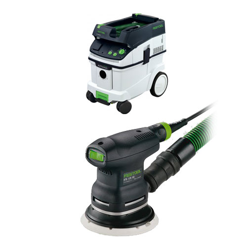 FESTOOL ETS 125 REQ PLUS RANDOM ORBIT FINISH SANDER & CT 36 E EXTRACTOR PACKAGE