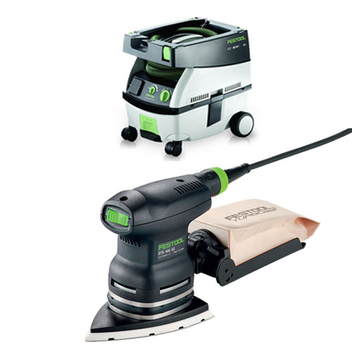 FESTOOL DTS 400 EQ ORBITAL FINISH SANDER & CT MINI EXTRACTOR PACKAGE