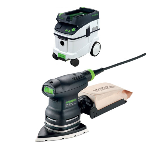FESTOOL DTS 400 EQ ORBITAL FINISH SANDER & CT 36 E EXTRACTOR PACKAGE
