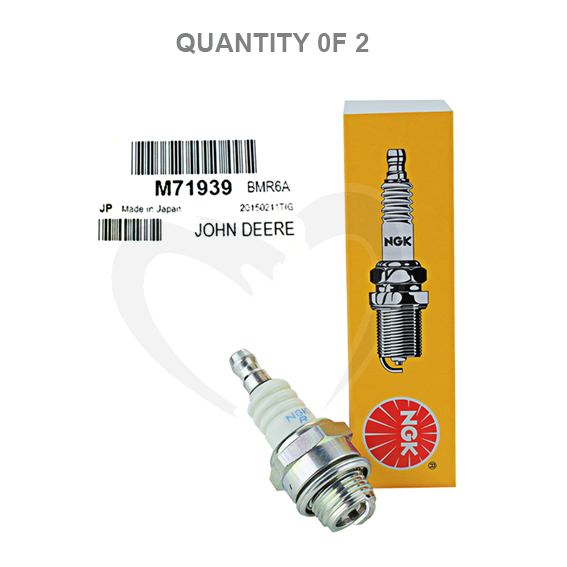 John Deere #M71939 Spark Plugs, Set of 2