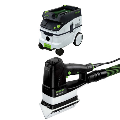 FESTOOL DUPLEX LS 130 EQ LINEAR SANDER & CT 26 E EXTRACTOR PACKAGE