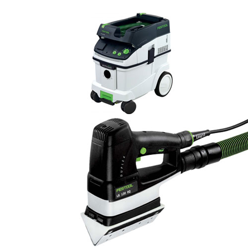 FESTOOL DUPLEX LS 130 EQ LINEAR SANDER & CT 36 E EXTRACTOR PACKAGE