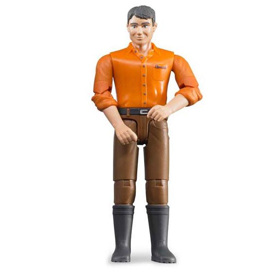 Bruder Light Skin Man w/Brown Jeans Action Figure, #60007