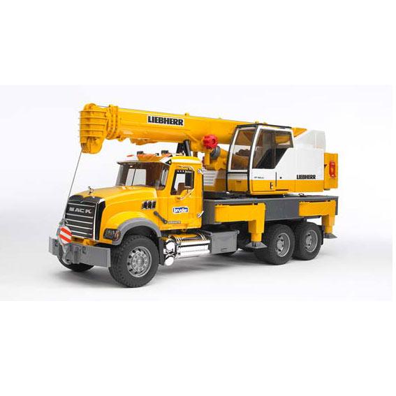 Bruder MACK Granite Liebherr Crane Truck, #02818