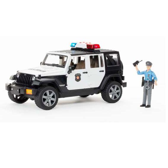 Bruder Jeep Wrangler Police Vehicle w/Policeman & Accessories, #02526