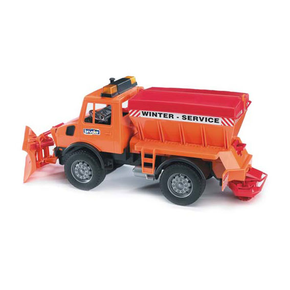 Bruder MB-Unimog Winter Service Truck w/Snow Plow, #02572