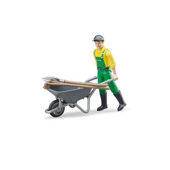 Bruder Farmer with Accessories Action Figure, #62610