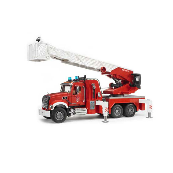 Bruder Mack Granite Fire Engine w/Ladder & Water Pump, #02821