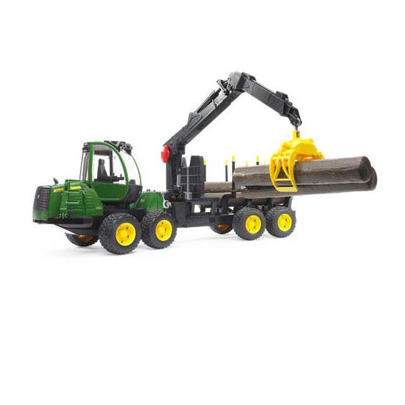 Bruder John Deere 1210E Forwarder w/4 Logs & Grabber, #09805