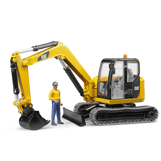 Bruder Cat Mini Excavator w/Worker, #02467
