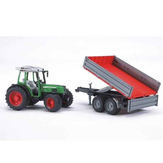 Bruder Fendt 209 S Tractor w/Tipping Trailer, #02104
