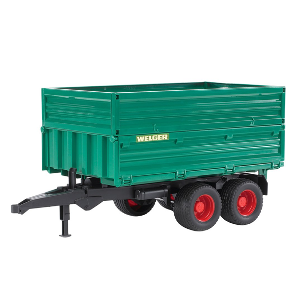 Bruder Tandem Axle Tipping Trailer w/Removable Top, #02010