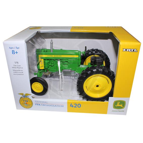 Ertl 1:16 Scale John Deere 420 Tractor w/FFA Logo