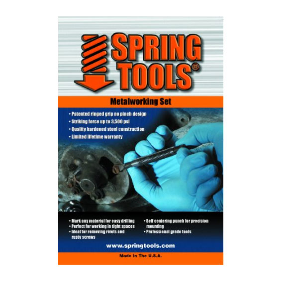 Spring Tools 4 Pc  Metalworking Punch & Chisel Set