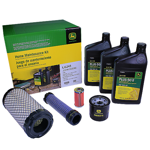 JOHN DEERE #LG243 HOME MAINTENANCE KIT FOR SELECT SERIES DIESEL X495, X595, X595 SE, & GATOR DIESEL 6X4, HPX 4X2, HPX 4X4