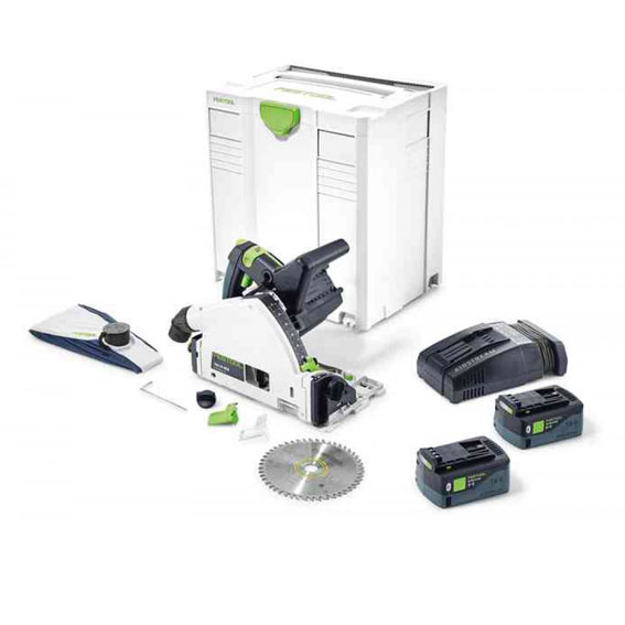Festool 576816 TSC 55 REBI-F-Plus-SCA Cordless Plunge-Cut Track Saw
