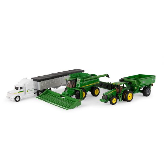 Ertl 1:64 Scale John Deere Harvesting Equipment Toy Set