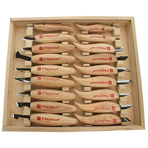 FLEXCUT #KN250 DELUXE 18 PC  CARVING KNIFE SET
