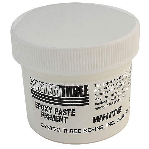 System Three White Epoxy Paste Pigment, 2 ounce