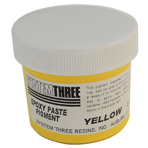 System Three Yellow Epoxy Paste Pigment, 2 ounce