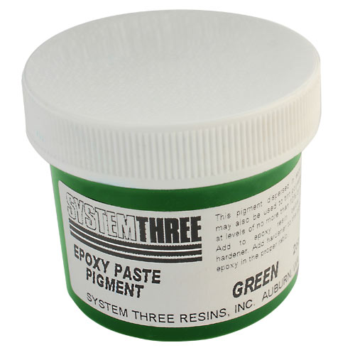 System Three Green Epoxy Paste Pigment - 2 oz